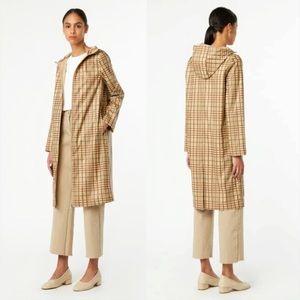 OAK + FORT Plaid Rain Coat